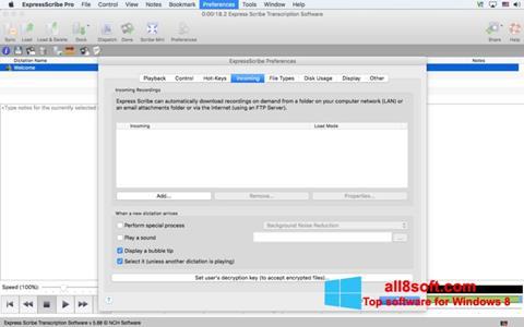 Screenshot Express Scribe for Windows 8
