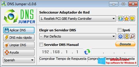 Screenshot DNS Jumper for Windows 8