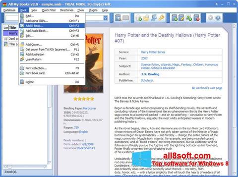 Screenshot All My Books for Windows 8