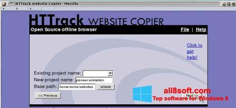 Screenshot HTTrack Website Copier for Windows 8