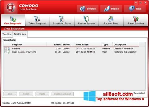 Screenshot Comodo Time Machine for Windows 8