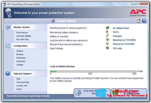 Screenshot PowerChute Personal Edition for Windows 8