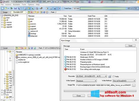 Screenshot UltraISO for Windows 8