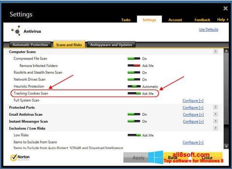 Screenshot Norton for Windows 8