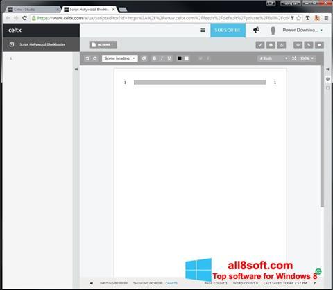 Screenshot Celtx for Windows 8