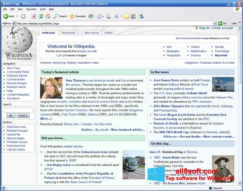 Screenshot Internet Explorer for Windows 8