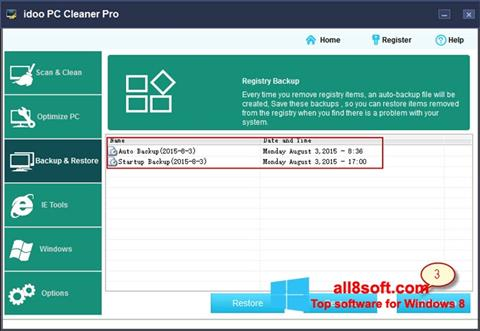 Screenshot Memory Cleaner for Windows 8