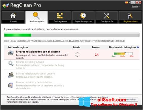 Screenshot RegClean Pro for Windows 8