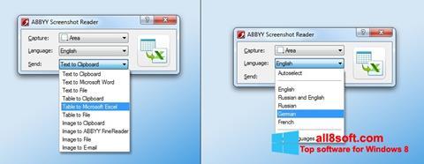Screenshot ABBYY Screenshot Reader for Windows 8
