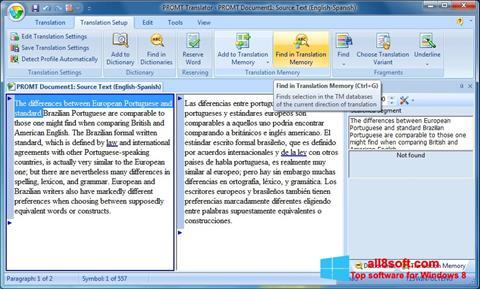 Screenshot PROMT for Windows 8