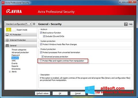 Screenshot Avira Professional Security for Windows 8