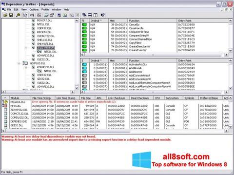 Screenshot Dependency Walker for Windows 8