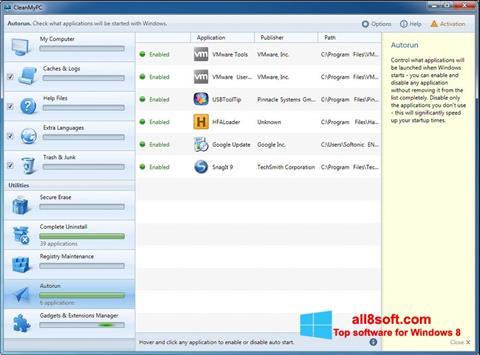 Screenshot CleanMyPC for Windows 8