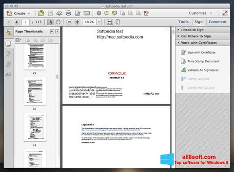 Screenshot Adobe Acrobat for Windows 8