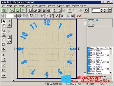 Screenshot Embird for Windows 8