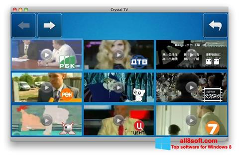 Screenshot Crystal TV for Windows 8