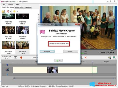 Screenshot Bolide Movie Creator for Windows 8