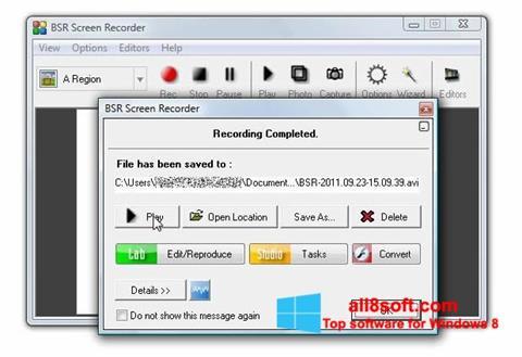 Screenshot BSR Screen Recorder for Windows 8