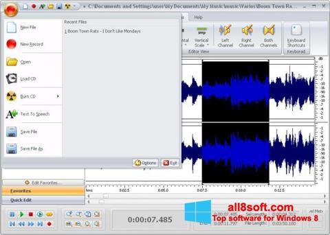 Screenshot Free Audio Editor for Windows 8