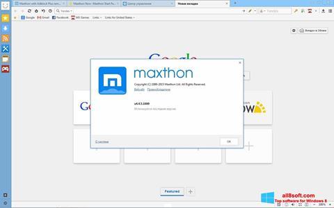 Screenshot Maxthon for Windows 8