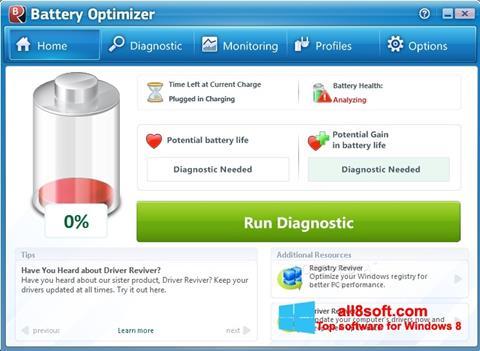 Screenshot Battery Optimizer for Windows 8