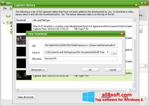 Screenshot Free Video Catcher for Windows 8