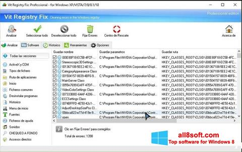 Screenshot Vit Registry Fix for Windows 8