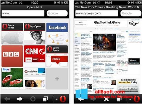 Screenshot Opera Mini for Windows 8