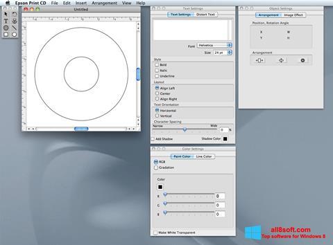 Screenshot EPSON Print CD for Windows 8