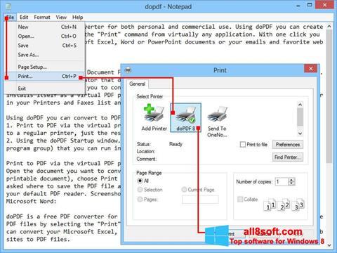 Screenshot doPDF for Windows 8