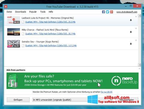 Screenshot Free YouTube Download for Windows 8