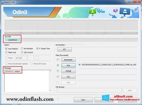 Screenshot Odin for Windows 8