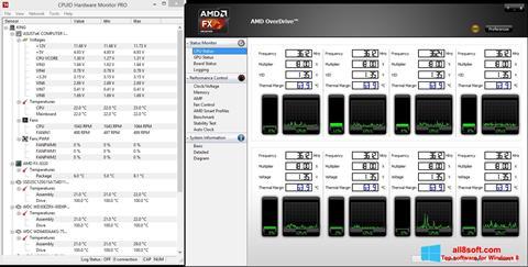Screenshot AMD Overdrive for Windows 8