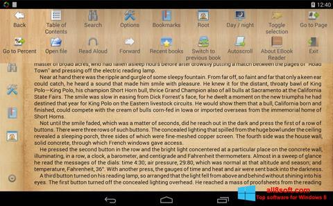 Screenshot Cool Reader for Windows 8