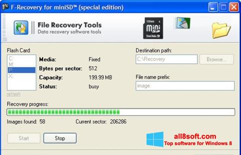 Screenshot F-Recovery SD for Windows 8