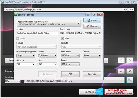 Screenshot Free MP4 Video Converter for Windows 8