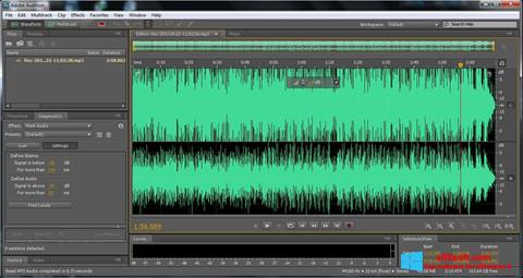 Screenshot Adobe Audition for Windows 8