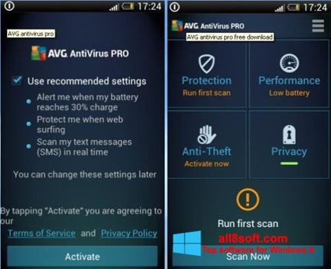 Screenshot AVG AntiVirus Pro for Windows 8