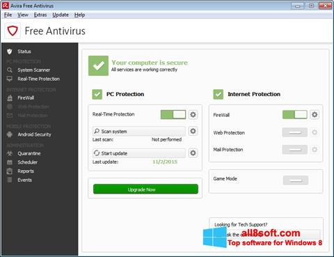 Screenshot Avira Free Antivirus for Windows 8