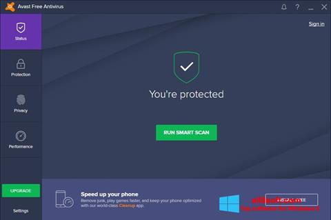 Screenshot Avast Free Antivirus for Windows 8