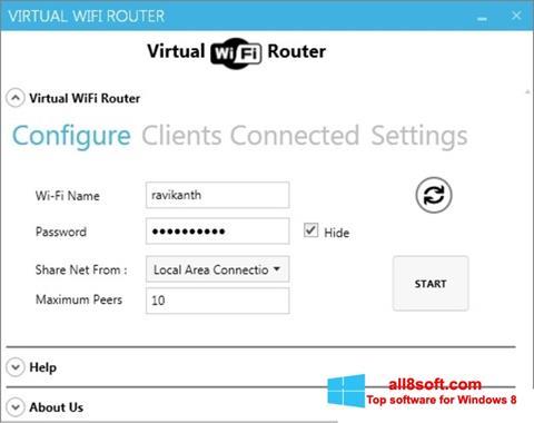 Screenshot Virtual WiFi Router for Windows 8