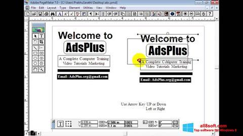 Screenshot Adobe PageMaker for Windows 8