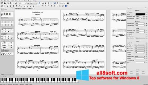 Screenshot MuseScore for Windows 8
