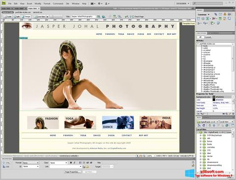 Screenshot Adobe Dreamweaver for Windows 8