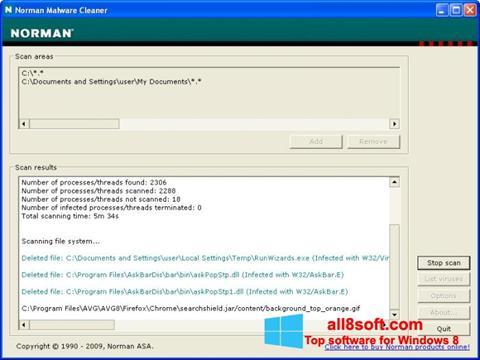 Screenshot Norman Malware Cleaner for Windows 8