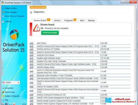 Screenshot DriverPack Solution for Windows 8
