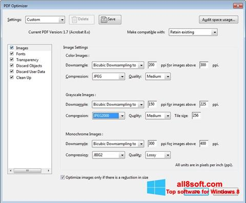 Screenshot Adobe Acrobat Pro DC for Windows 8