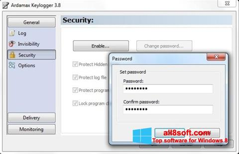Screenshot Ardamax Keylogger for Windows 8
