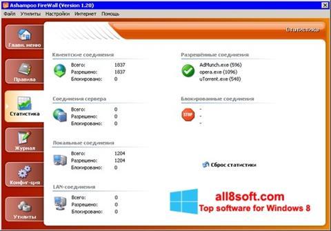 Screenshot Ashampoo Firewall for Windows 8