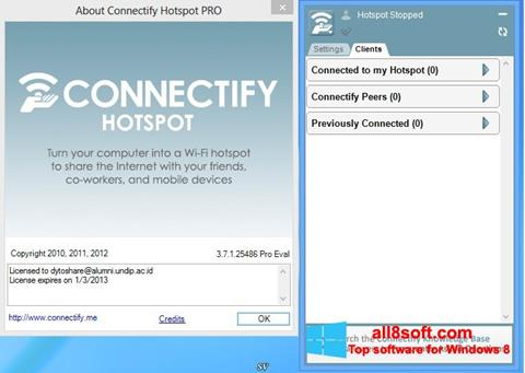 Screenshot Connectify Hotspot for Windows 8